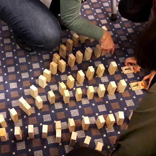 teamevent - impulskette - kettenreaktion - Domino