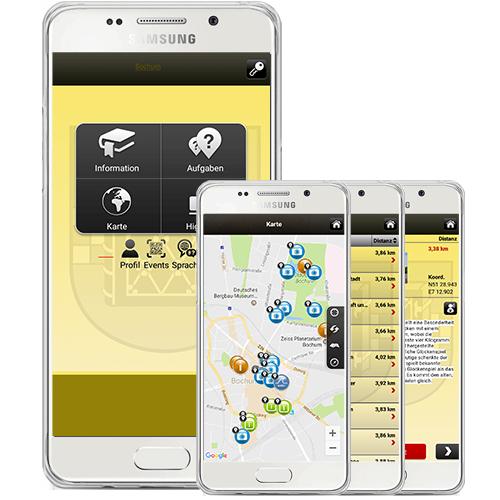 Bild von Smartphone mit Tab-Game