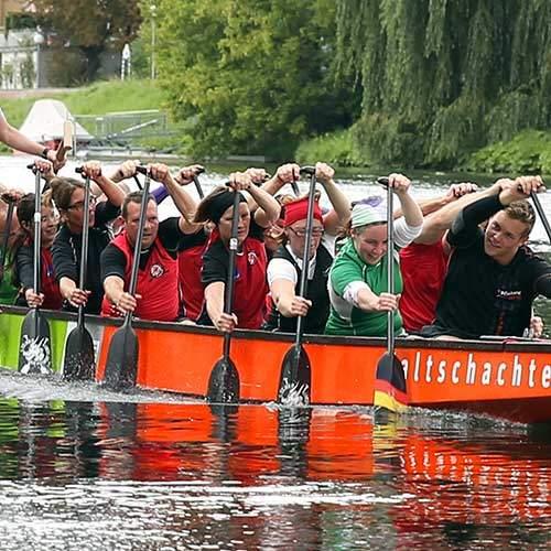 Drachenboot Fahrt Rheine