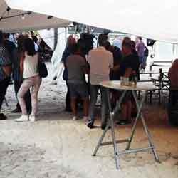 Firmenfeier Firmenevent im Sand