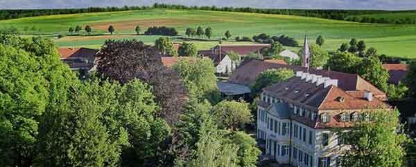 Luftbild Schloss Dennenlohe